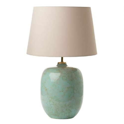 Elgar Table Lamp Turquoise/Grey/Gold Base Only